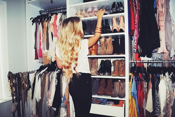 Girl Searching Through Dream Closet