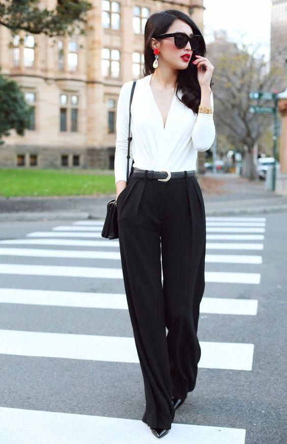 White Drape Bodysuit Top