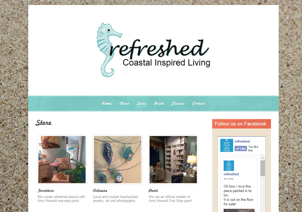 We loved working on this site, built on the Virb platform, with Shari of refreshed.