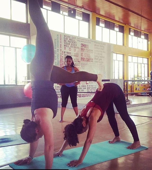 trying new things and getting out of my comfort zone. #trust #acroyoga #trynewtings # kigalimornings #newobsessionmaybe