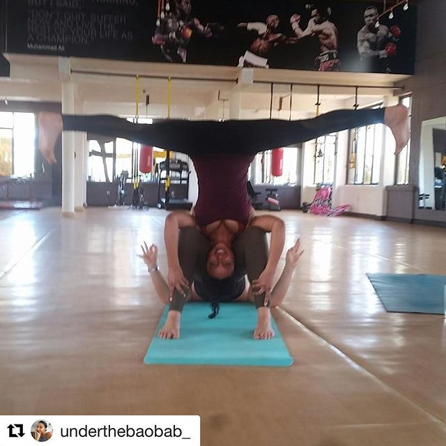 """You look like a uterus!"" - @i_like_ceviche Thank goodness spotters.  trying new things and getting out of my comfort zone. #trust #acroyoga #trynewtings # kigalimornings #newobsessionmaybe"