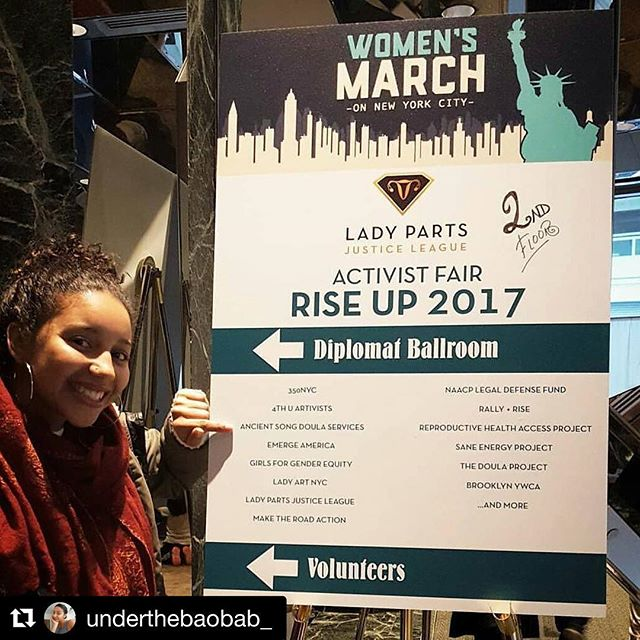 #Repost @tanyadiallo #womensmarch #doulas @ancientsong Rise Up Activist Fair repost @ahntologies 1.21.2017