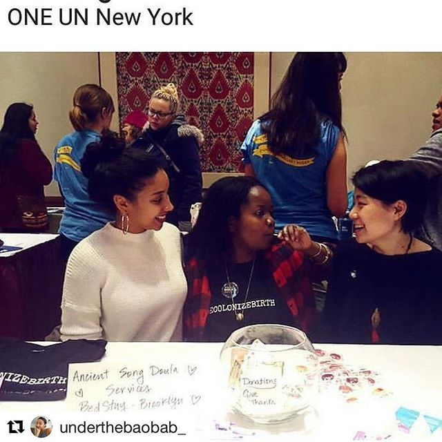 repost @ahntologies. Getting our #doula on at the Rise Up Activist Fair. #womensmarch UN event 1.21.2017 @ancientsong #decolonizebirth