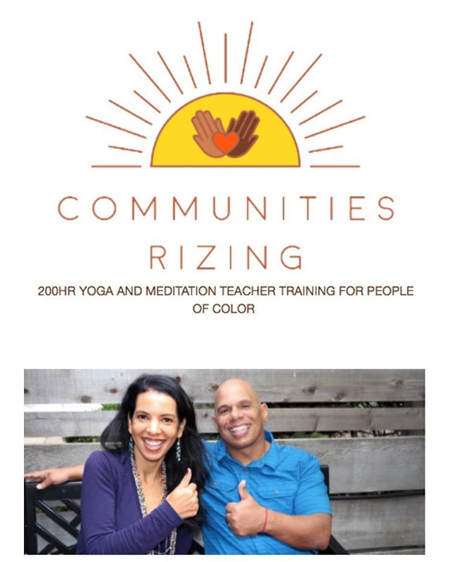 Join @springwasham and Rolf Gates for Communities Rizing: 200HR Yoga and Meditation Teacher Training for People of Color. This 8-month long, weekend module format training will start October 5th, 2018 and end on May 5th, 2019. If you are interested in this opportunity, please check out the Communities Rizing Website and apply before the slots fill up! You can check it on their website www.communitiesrizing.org and on the Under The Baobab Upcoming Events page.