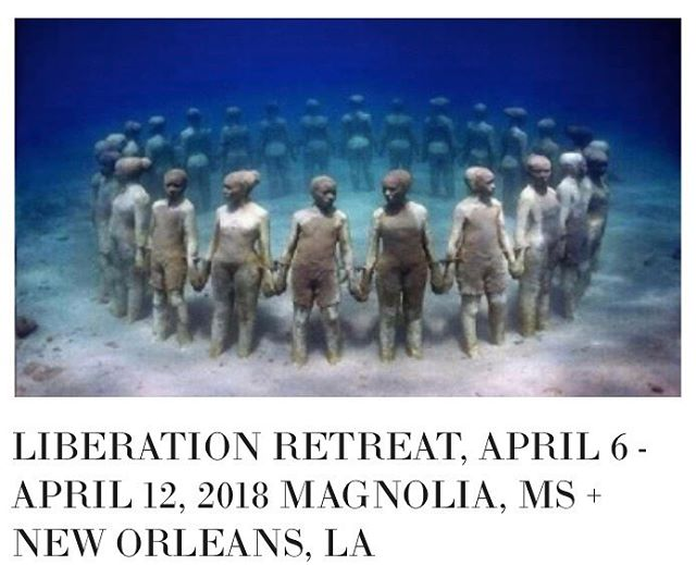 Just a few spots left for the Deep Time Liberation Retreat: An Ancestral Healing Journey from April 6 - April 12, 2018 in Magnolia, MS + New Orleans, LA. This 7-day retreat is designed for people from the African Diaspora. Retreat Facilitators include Noliwe Alexander @nolialex8 and Devin Berry @blkb3rry of East Bay Meditation Center and DaRa Williams and Rosetta Saunders of NY Insight Meditation. For availability, pricing, interest & questions contact deeptimelib@gmail.com . Please include your contact information. Contact them directly and read more about the retreat on Under The Baobab Retreats