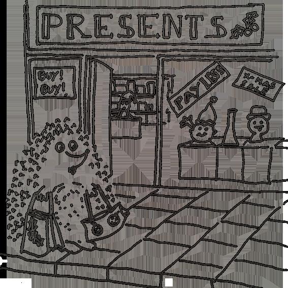 xmas shopping hedgehog.png