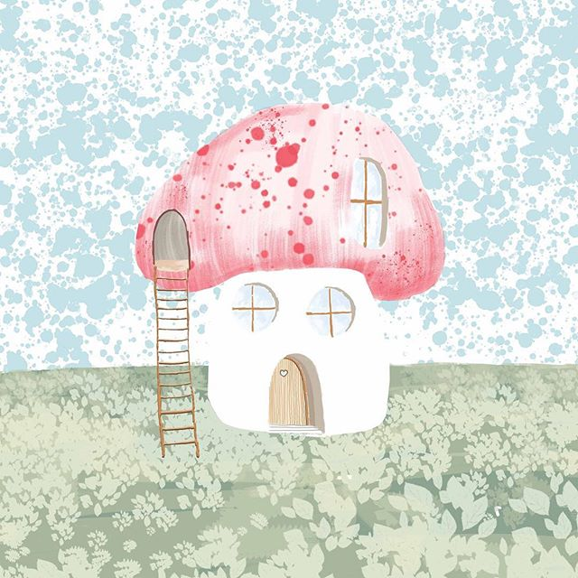 My kind of home... #jothemonster #mushroomart #mushroomhouse #woodlandillustration #kidsart #artforkids #woodland #cutehomes #kawaii #surfacepro #illustratorsoninstagram #childrenillustration