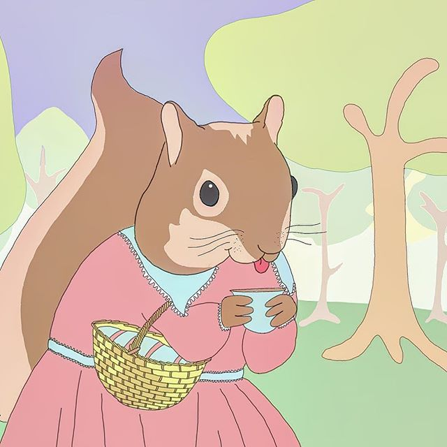 Mab wip  #jothemonster #mab #squirrel #wip #woodland #digitalart #illustratorsofinstagram #childrenillustrations #woodlandcreatures #kawaii