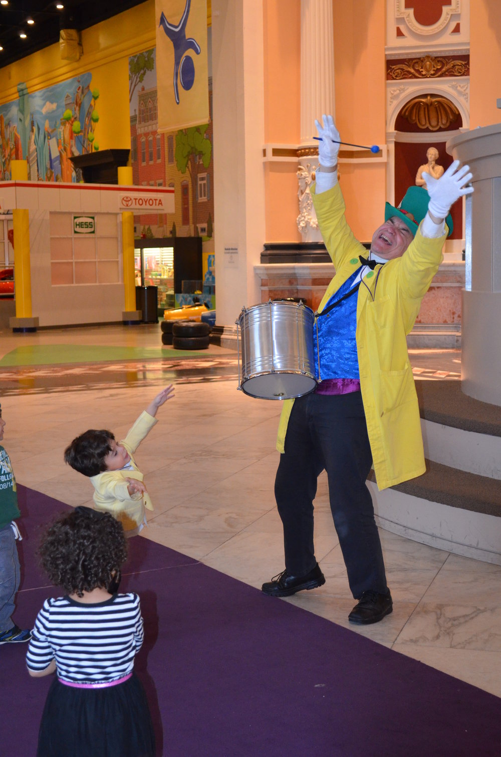 As the Mad Hatter at the Please Touch Museum's End of Day Parade.