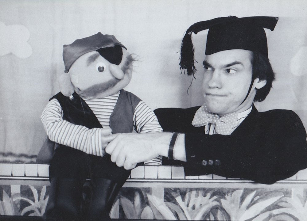 David and a pirate friend, circa 1983.