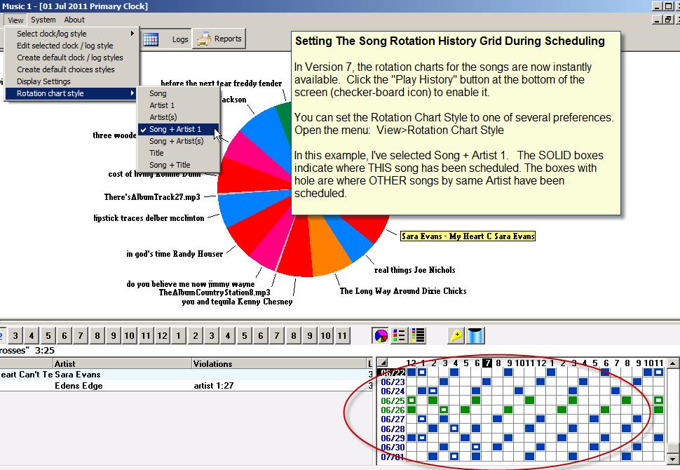 Rotation Chart Style Setting