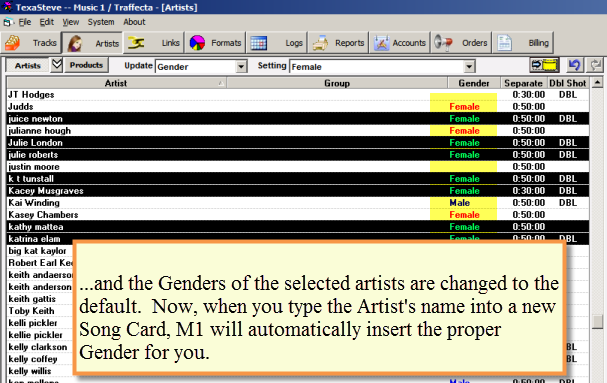 Set Default Genders 2