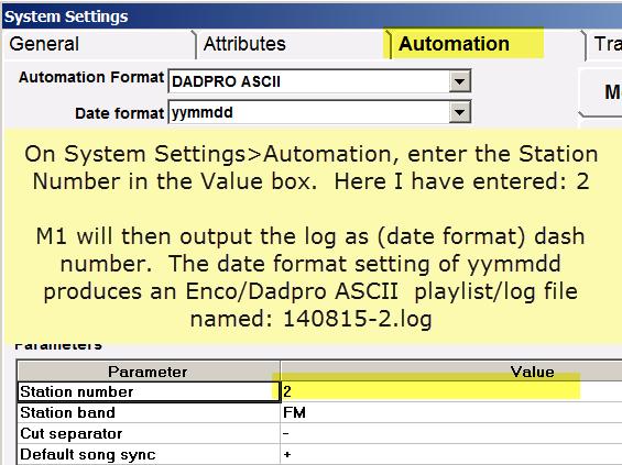 Enco-DadPro Multi Station Log