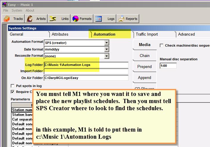 SPS Automation Folder Selection