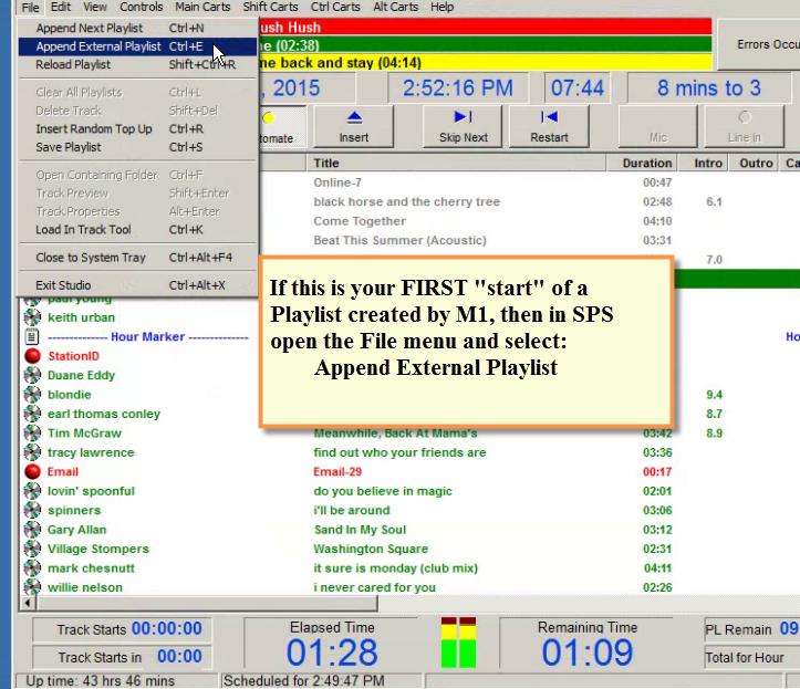 SPS - Creator Append External Playlist