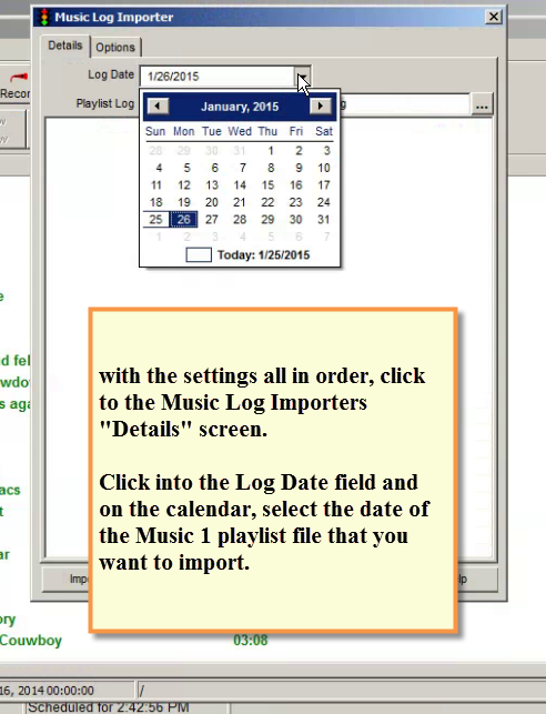 SPS- Creator Import Date Selection