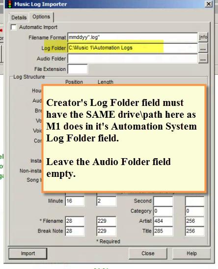 SPS - Creator Log Foilder Settings