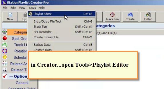 SPS - Creator Tools Menu