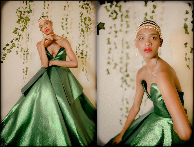 She Sees Green  model @mecca_allah  gown @daisylopezdesigns  MUA @crystalcarrerohmu