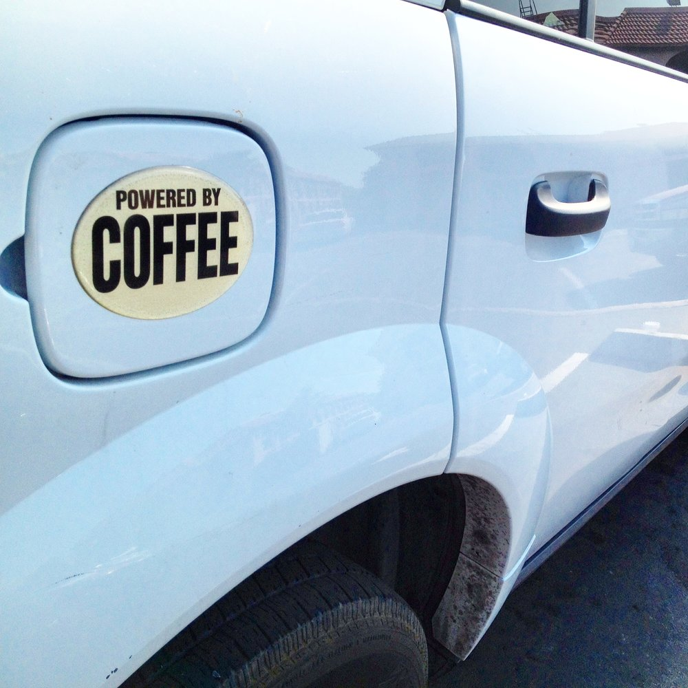 Powered by Coffee Car.JPG