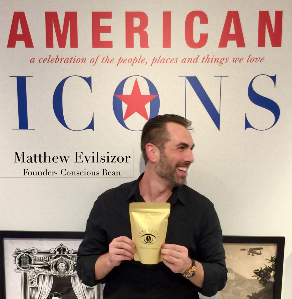 Conscious Bean Founder, Matthew Evilsizor being regonized by Macy's as an up and coming American Icon