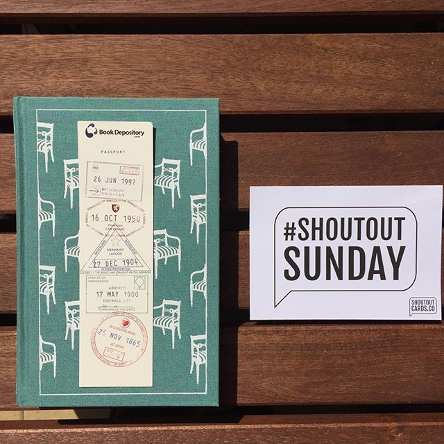 Shout Out this Sunday to @bookdepository for this gorgeous bookmark (featured here on my copy of Emma by Jane Austen). I always love ordering books from The Book Depository as I know I'm going to get a sweet free bookmark, and this is my favourite! Zoom in to see the design detail - book nerds will love it! #shoutoutsunday #shoutoutcards #booknerd⠀
