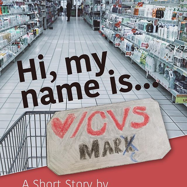 "Check out my new #shortstory ""Hi, my Name is Mark"" over at #wattpad  or on my website: What's in a name? Does it contain our dignity? Our humanity? Or is it just a frivolous combination of letters hung on us by overwhelmed parents?  Read the tale of Mark - wearer of name tags, overseer of a kingdom made of tampons, condoms, skeletons and beer, a captive in a magical land known as #CVS.  Link in bio and whatnot . . . #newfiction #mainewriters #nametag #howdoyouspellmark #darkhumor"