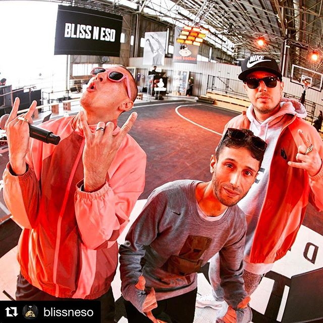 #Repost @blissneso ・・・ About to rock it at the @nikesportswear and @footlocker_au Battle Force B-Ball event in Melbourne. Come to hanger 85 at Essendon Field airport for this free event today. We hit the stage at 5pm. #BATTLEFORCE #approved #fortheculture 🏀🤘🏽