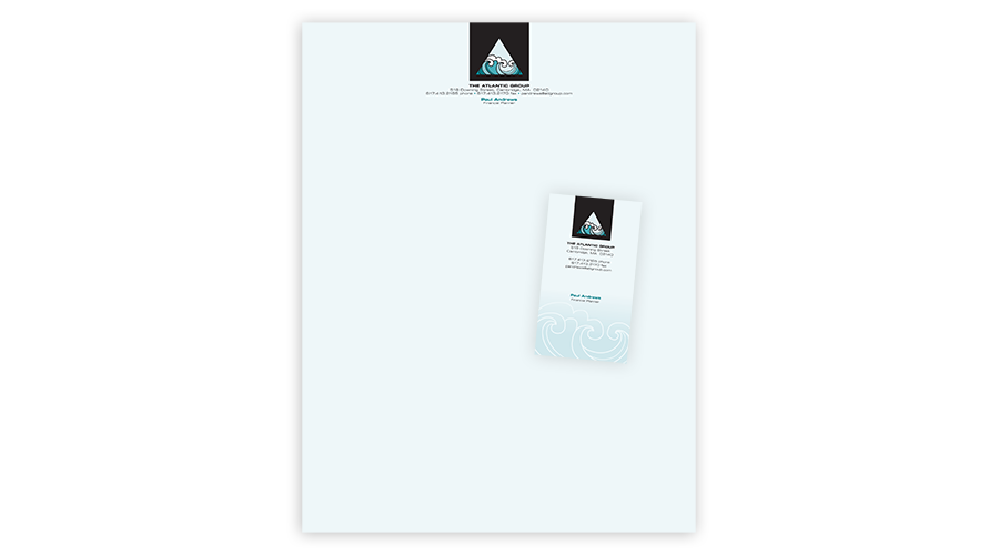 logo & identity for a small insurance office, who wanted something sleek & professional, but slightly less conservative than their competitors