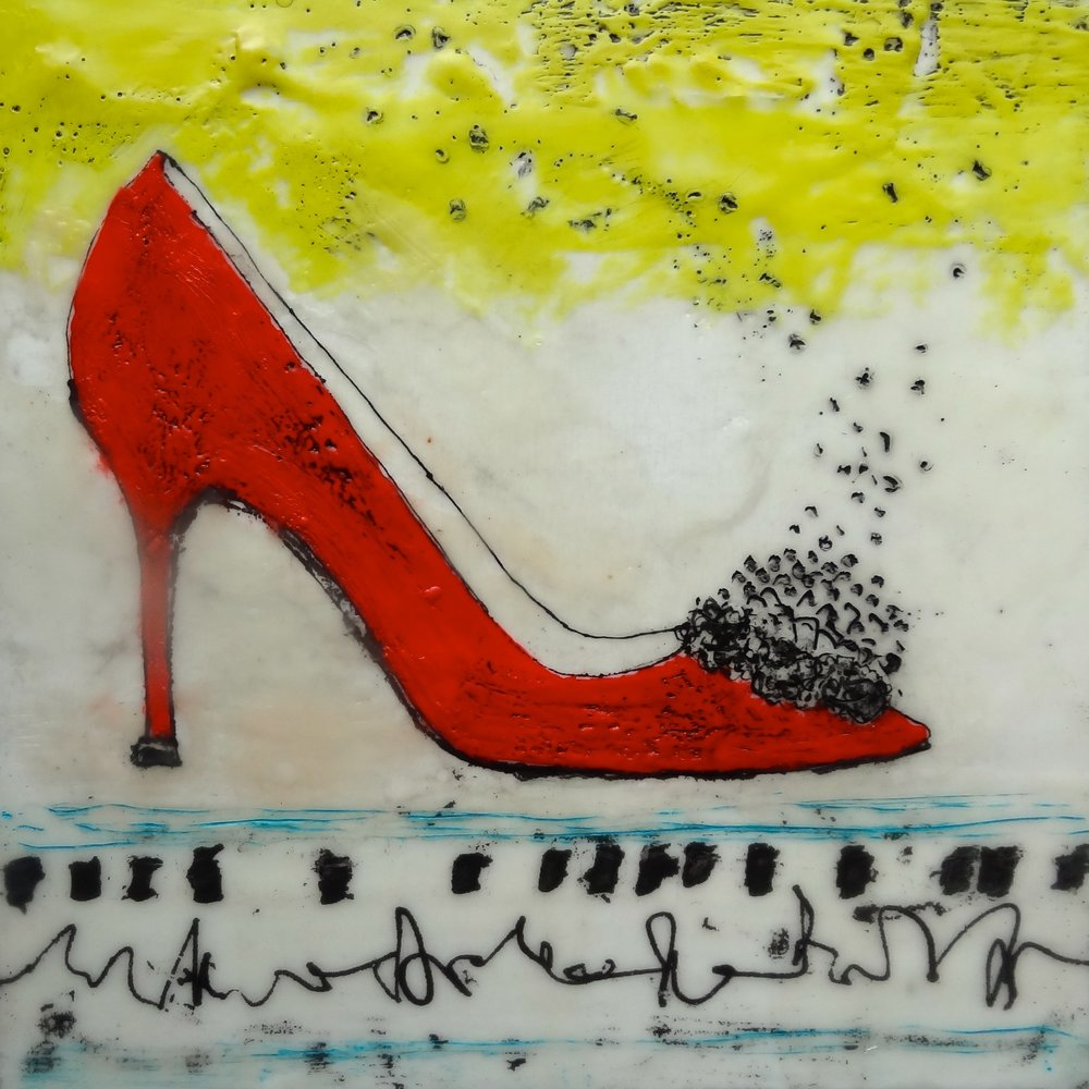 Stepping Out in Red (sold)
