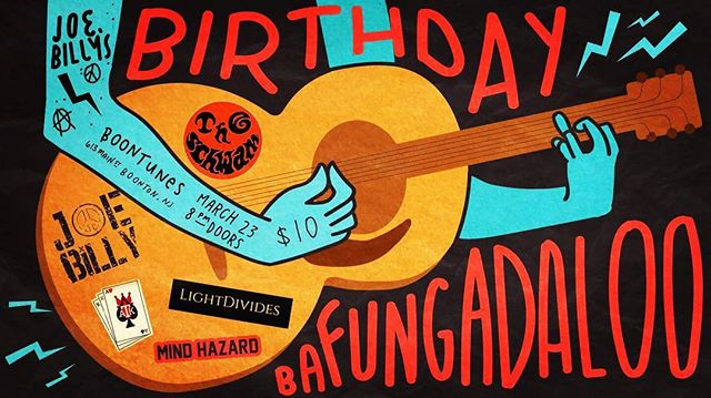 Next show!  We are playing our friend Joe's birthday party!  Shows:  3/23 | BoonTunes NJ 4/3 | Debonair Music Hall NJ 4/18 | Stanhope House NJ 5/18-20 | Jersey Shore Music Fest NJ .............................................................................. #LightDivides #ReNature #StayGoing #Birthday #Bafungadaloo  #Shows #BoonTunes #Music #Guitar #Bass #Drums #Love #Friends #Fun #Friday #Party #NewJersey #Equinox #WeBurnBrighterTogether