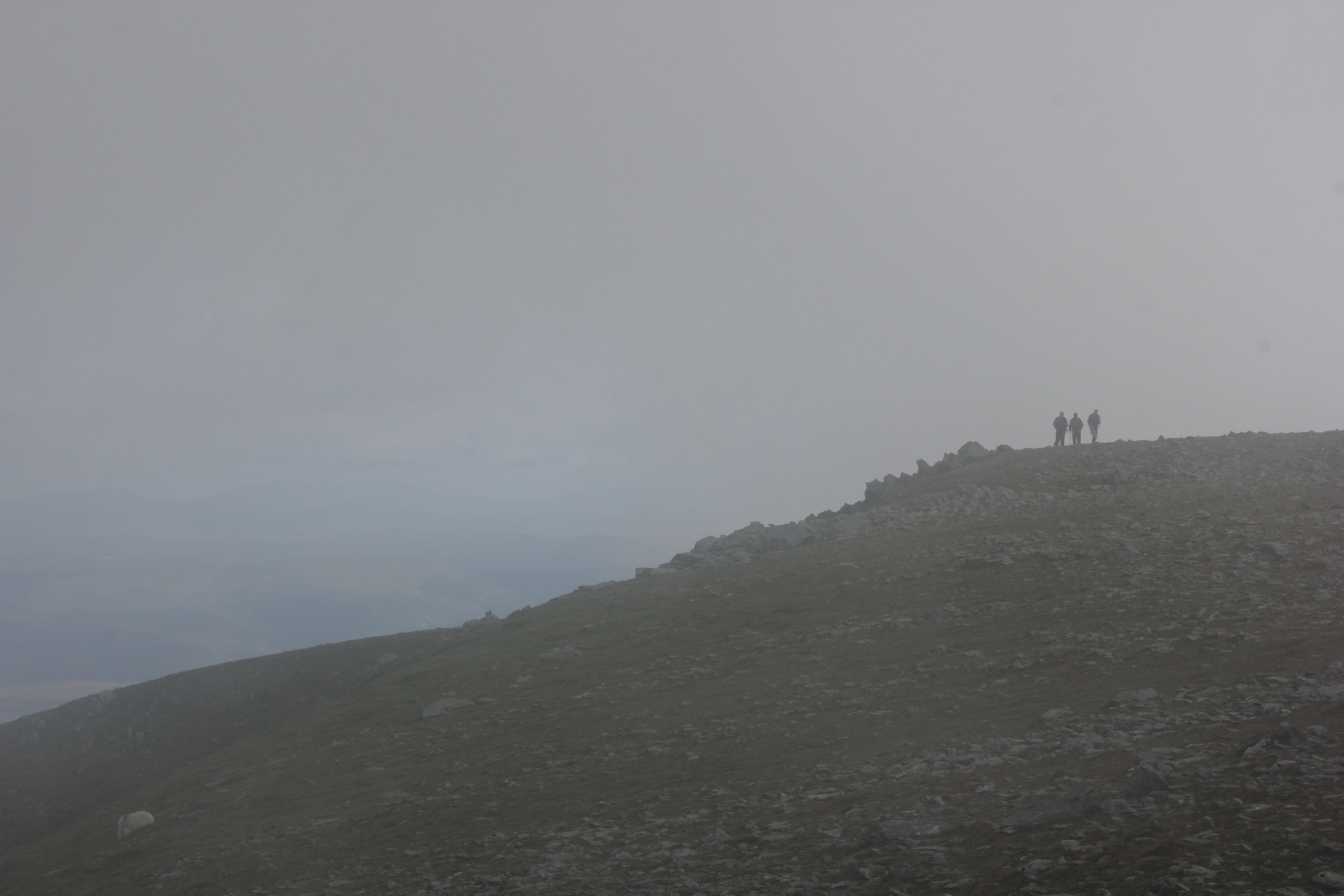 A misty summit
