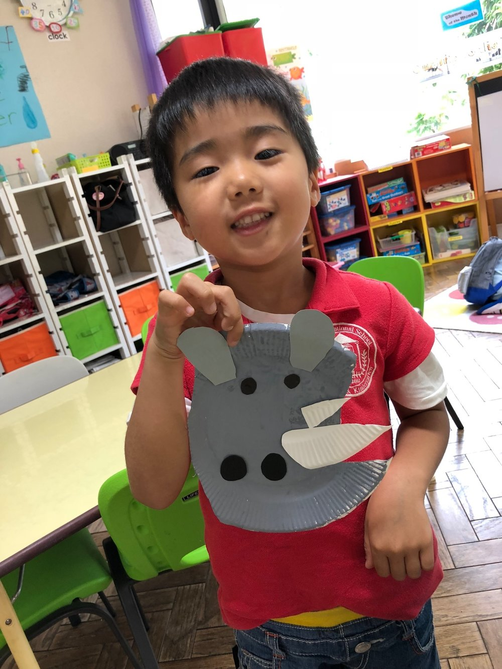 Made a rhinoceros for our craft.