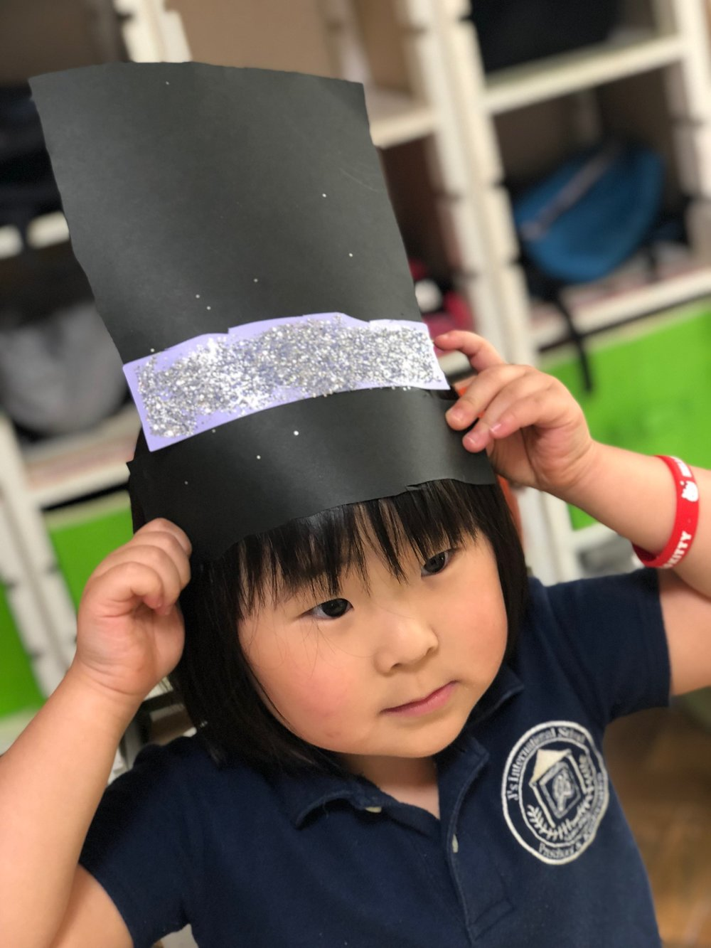Made a top hat for our graduation performance.