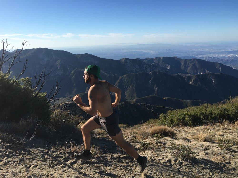Running Strawberry Peak, Angeles National Forest