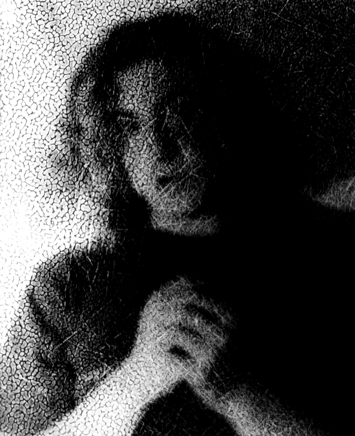 Self-Portrait Printed through texture, 1996