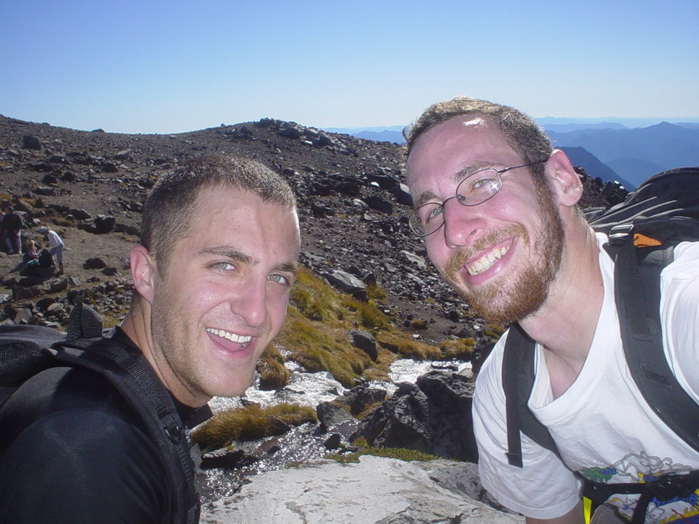 Leon and I climbing up Mt. Rainier shortly after arriving in Seattle