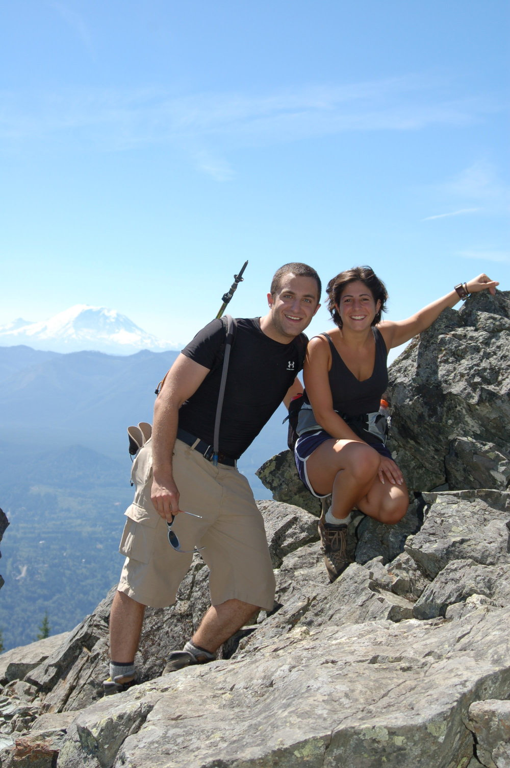 Atop Mt. Si with an appearance of Rainier in the background, 2006
