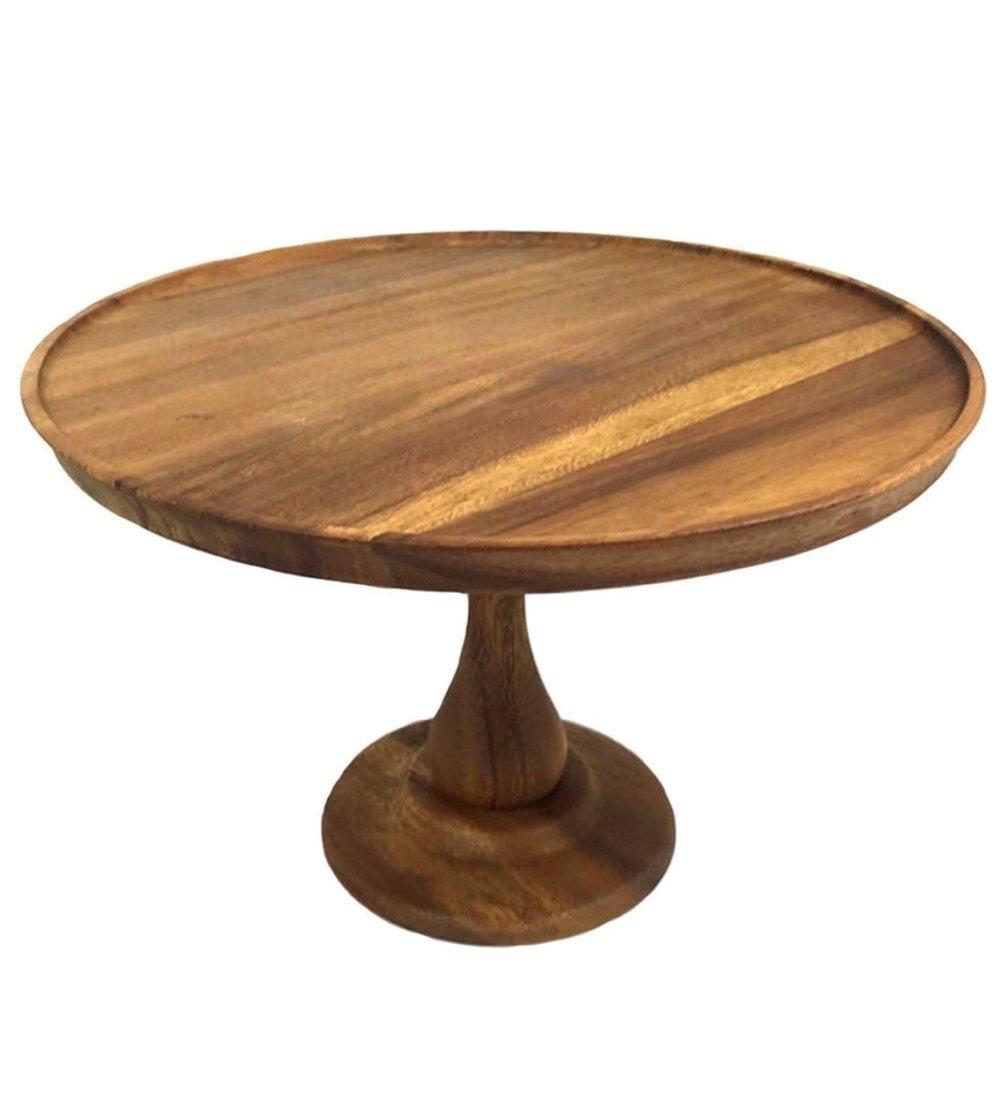 """Acacia Wood Cake Stand 12"""", $30, Qty 1"""