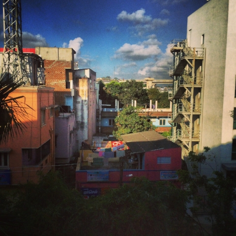 View from the hotel in Chennai, Tamil Nadu, India.