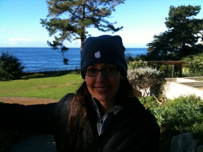 Fighting back tears at Esalen in beautiful Big Sur, California.