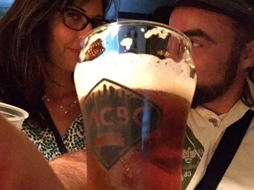 At the Los Angeles Beer Crawl.