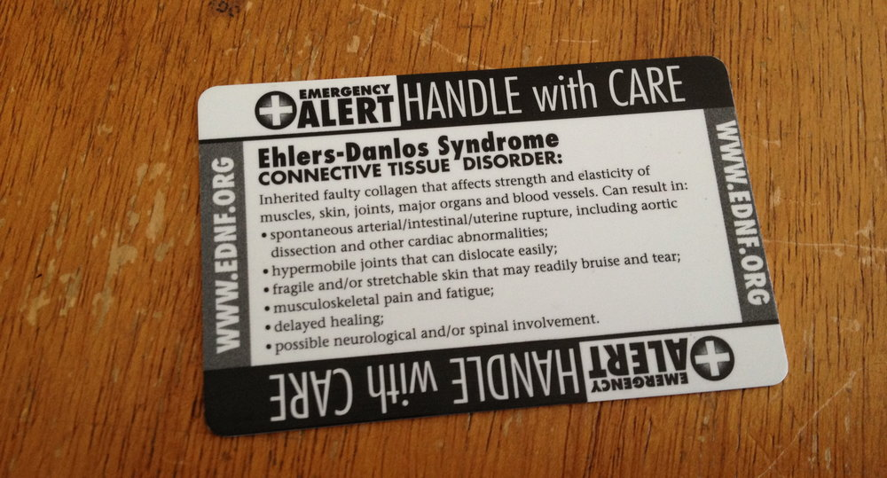 - Made by the Ehlers-Danlos National Foundation, which no longer exists.