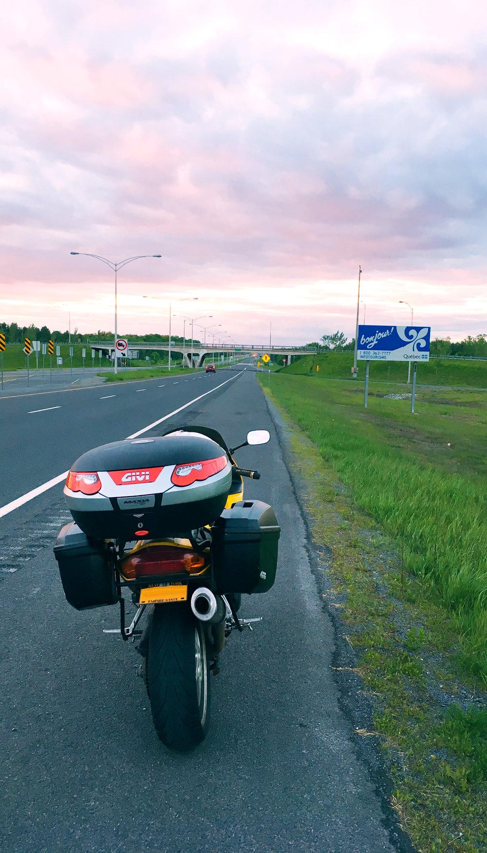 Border Crossing into Quebec