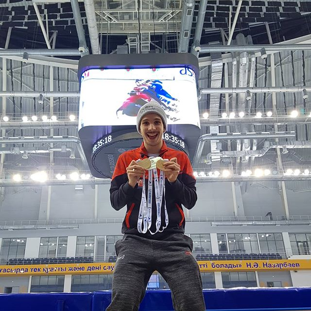 Happy to be back on the podium with 🥇🥇🥈 Thank you Almaty for this event ! It was a great first time !! 🤟🏽