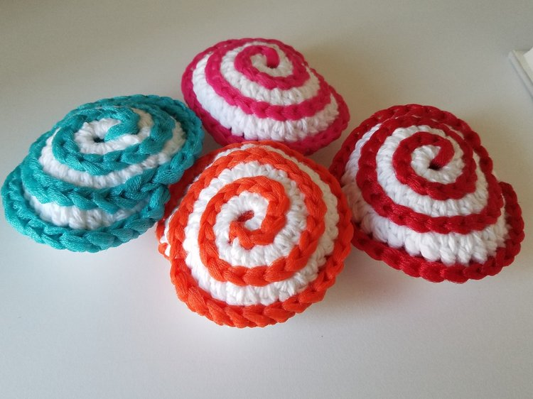 Spiral Scrubbie Gift Set Dark Triple A Crochet