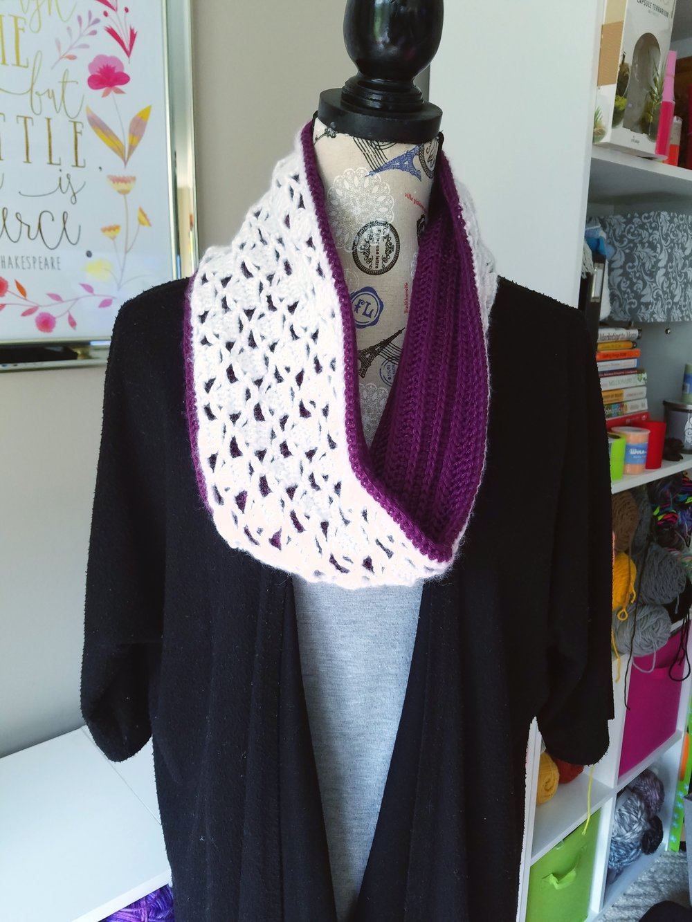 Plum and white reversible cowl.jpg