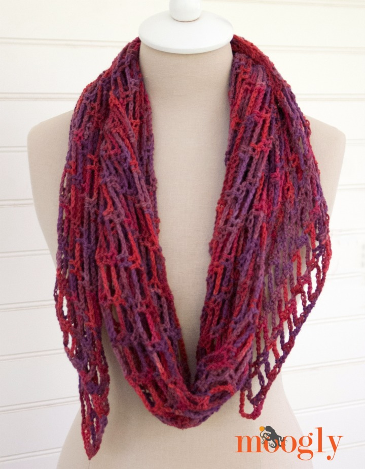 Her extremely popular Artfully Simple Angled Scarf Click on the photo to see the pattern.