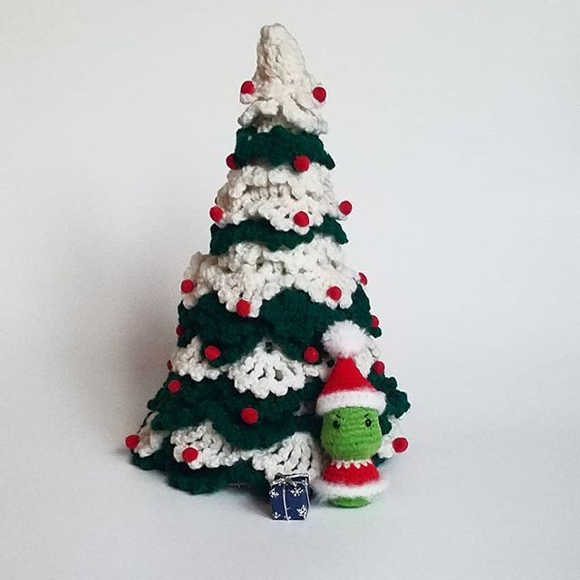 Thanksgiving has passed and now it's time to get ready for the #mostwonderfuldayoftheyear !!!!! How cool is this crocheted Christmas tree!? My grandma made it and I'm honored to be the grandkid that gets to keep it. It is a treasure to me.  Hopefully Mr. Grinch keeps his hands off my tree AND my gifts. Sneaky Mr. Grinch... You can purchase your own Mini Grinch on my website. Link in my profile. . . . . #christmas #thegrinchwhostolechristmas #thegrinch #grinch #merrychristmas #thegrinchthatstolechristmas #thegrinchesheartgrewthreesizesthatday #drseuss #crocheter #crochet #crocheting #crochetaddict #crochetlove #crochetersofinstagram #handmade #crocheted #crochettoy #amigurumi #crafts #handmade #handmadewithlove #handmadegifts #handmadeisbetter #handmadetoy #shopsmall