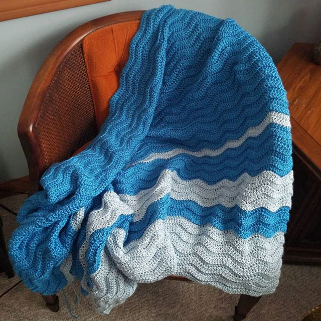 A gorgeous #turtleblanket on the way! I love how the waves look as if they ar